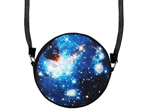 Galaxy Weltraum Weltall Space Handtasche Tasche rund