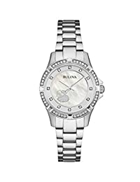 Bulova Women's 96L226 Timeless Diamond Silver Dial Quartz Watch