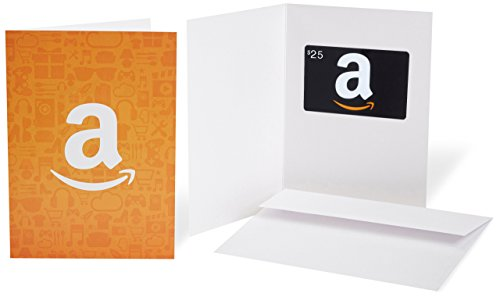 Amazon.com $25 Gift Card in a Greeting Card (Amazon Icons Design)