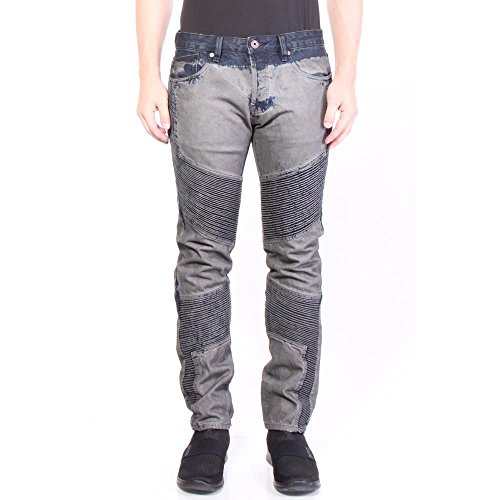 Cult of Individuality Greaser Moto Slim Straight Jeans 36/34 Grey Men]()