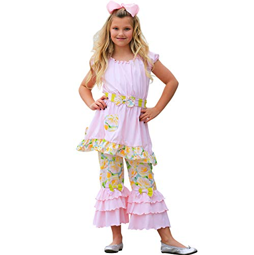 - AnnLoren Big Girls 9-10 Boutique Spring Shabby Rose Tunic Capri Clothing