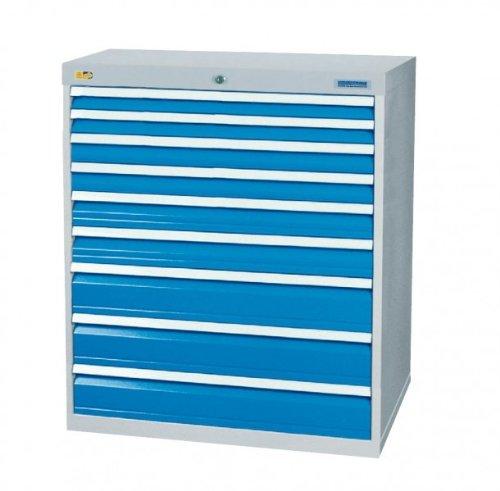 Schubladenschrank mit 9 Schubladen, inkl. Einteilungssortiment Schubladenschränke Breite 1000 bedrunka+hirth