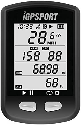 sans Fil Blanc Noir avec Support Grand /Écran 2,2 IGPSPORT iGS50E Compteur V/élo GPS Ant