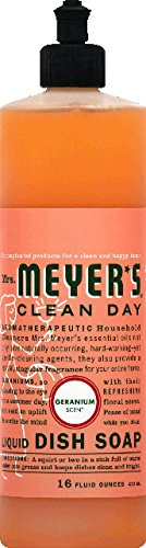 Mrs. Meyer's Clean Day Liquid Dish Soap, Geranium, 16oz, 2pk