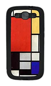 Samsung Galaxy S3 Case and Cover-Piet Mondrian Art TPU Case Cover for Samsung Galaxy S3 / SIII / I9300 Black