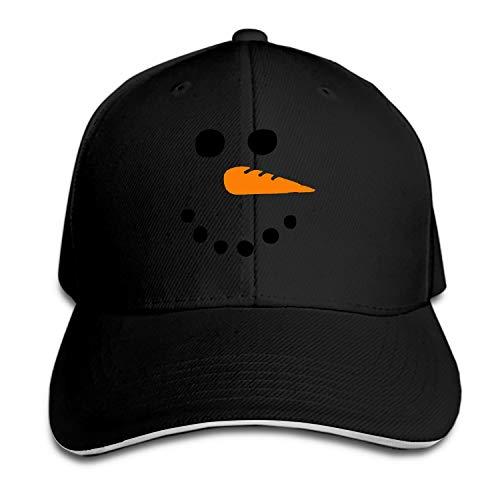 (Unisex Denim Dad Hat Adjustable Plain Cap Snowman Xmas Snow Style Low Profile Gift for Men Women)
