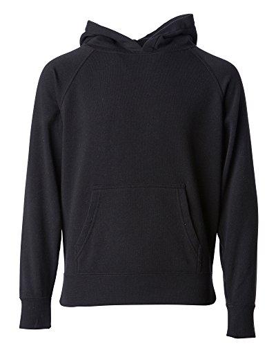Global Boys Pullover Hoodie Girls Sweatshirts Front Pockets Fleece Kids Jacket (6T, Solid Black)