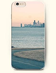 iPhone 4s Inches Sea and Beach - Hard Back Plastic Phone Cover OOFIT Authentic