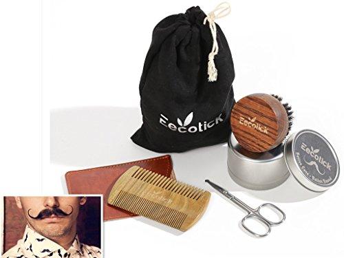 Eecotick Grooming Beard Kit–100% Pure Boar Bristle Brush ...