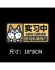 PMSMT 2 szt. naklejki samochodowe nowicjusz naklejki samochodowe, naklejki samochodowe, kobiecy kierowca, husky tekst mundur dekoracja standardowa ćwiczenie logo jazdy-AS SHOW
