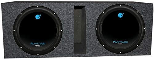 Planet Audio 12″ 3600W DVC Subwoofer AC12D (2)+Dual 12″ Vented Sub Box Enclosure