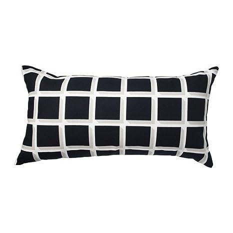 Amazon.com: Ikea 2 packs Cushion, black/white, 12x24 ...