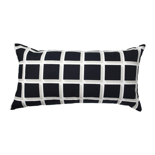 Amazon.com: Ikea 2 packs Cushion, black/white, 12x24 ...