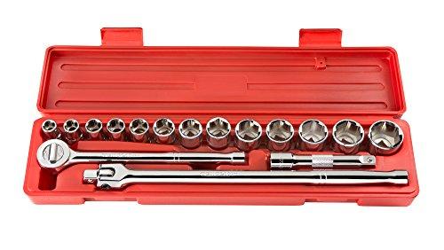 TEKTON 11701 1/2-Inch Drive Socket Set, Metric, 17-Piece ()