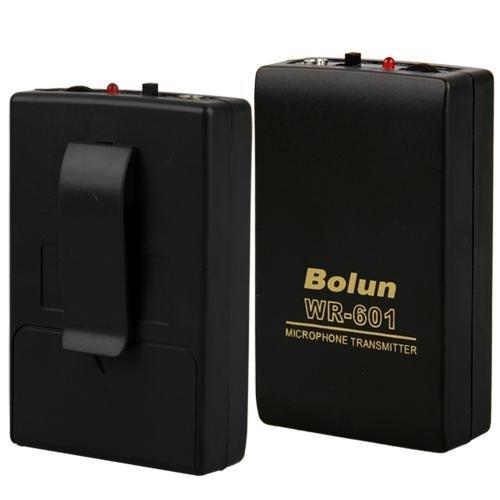fitTek WR-601 - Micrófono inalámbrico con clip (emisor, receptor), negro: Amazon.es: Oficina y papelería
