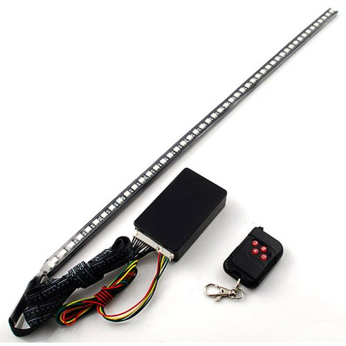 RGB 48 5050 SMD Scanning Knight Rider Light Bar Strip W/ Remote Control Turn Signal Third Brake Light