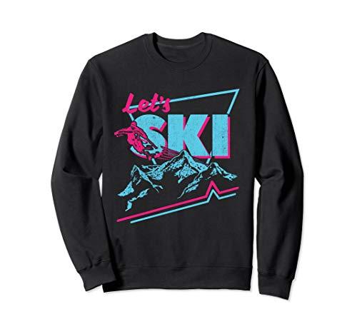 Vintage Ski Outfit 80s 90s - Retro Ski Sweatshirt