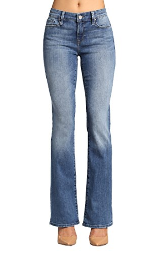 (Mavi Jeans Women's Molly Mid Rise Bootcut in Light Nolita Light Nolita Jeans 24 X 34)
