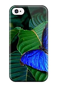 Fashionable DhrNCeQ3065DyRFq For Apple Iphone 4/4S Case Cover For Nice Blue Butterfly Case
