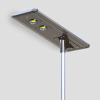50W Superior Solar/Hybrid Energy Efficient LED Ultra-Powerful Self-Contained Smart Commercial Residential Lighting w/ Mounting System for Building Parking lots Bike Path Street