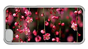 Hipster best iPhone 5C covers spring pink blossom PC Transparent for Apple iPhone 5C