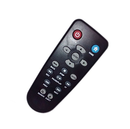 Replaced Remote Control Compatible for Western Digital WD TV Live Plus HD Media Player WDBABX0000NBK WDBREC0000NBK WDBG3A0000 (Wd Tv Live Streaming Media Player Manual)
