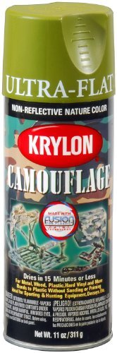 Krylon K04296000 Camouflage With Fusion For Plastic Paint Technology Aerosol Spray Paint, 11-Ounce, Camouflage Woodland Light Green by Krylon