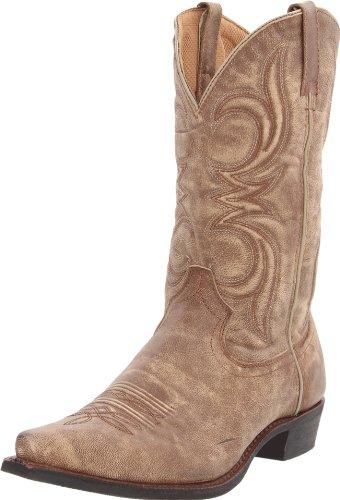 (Dingo Men's DI5112 Boot,Tan/Tan Crackle Goat,9.5 3E (WW) US)