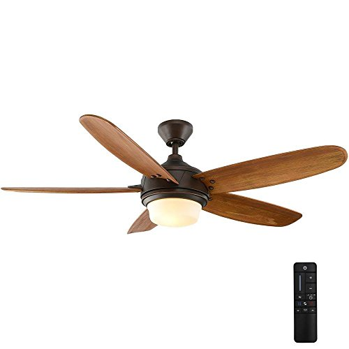 Home Decorators Collection Breezmore 56 in. LED Indoor Mediterranean Bronze Ceiling Fan with Light Kit and Remote Control (Decorators Home Clearance)