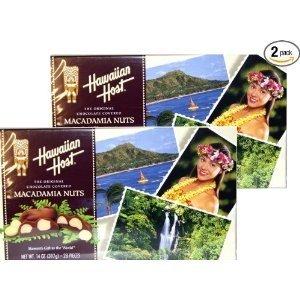 Hawaiian Host Aloha Macs Milk Chocolate Macadamia Nuts (7 ounce box, 14 pieces) (2 Boxes) by Hawaiian Host