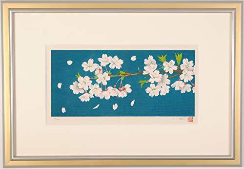 中島千波 「さくら」 桜 花 絵画 木版画 和風 日本画 額付き