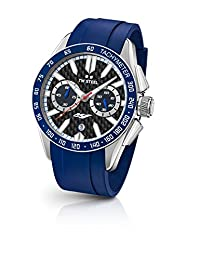 TW Steel Men's 'Grandeur Sport' Quartz Stainless Steel and Silicone Dress Watch, Color:Blue (Model: GS4)