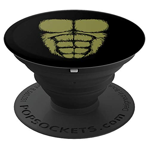 Gorilla Chest Muscles Abs Costume Art Halloween Easy Gift - PopSockets Grip and Stand for Phones and -