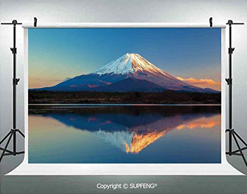 Background Mount Fuji and Lake Shoji Picture Clear Sky Sunset Photo Print 3D Backdrops for Interior Decoration Photo Studio Props ()