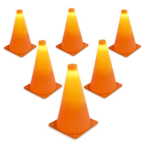 GoSports LED Light Up Sports Cones (6 Pack), 9""