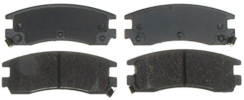 ACDelco 14D714CH Advantage Ceramic Rear Disc Brake Pad Set with Wear Sensor ()
