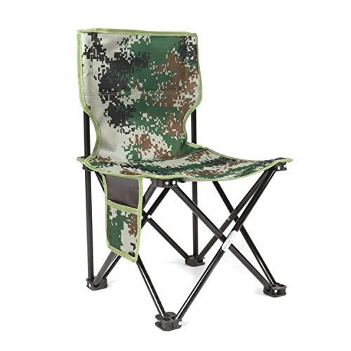 Faltbarer Stuhl Hocker, Ultraligero Aluminiumlegierung Faltbare Vier Ecken Stuhl Camuflaje al Aire Libre Hocker Stuhl Sitz für Camping Wandern Angeln ...
