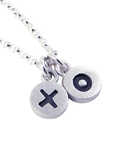 X O (Hugs Kisses) Sterling Silver Necklace (Hug And Kisses Tic Tac Toe)