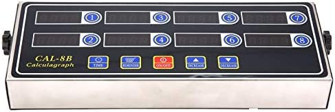 ghfcffdghrdshdfh CAL-8B Portable Calculagraph 8 Kanal Digital Timer K/üche Kochen Timing LCD-Display Uhr Sch/ütteln Erinnerung