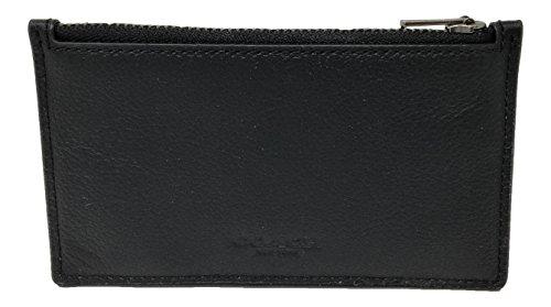 Coach Zippered Card Case Sport Calf Leather Black F29272