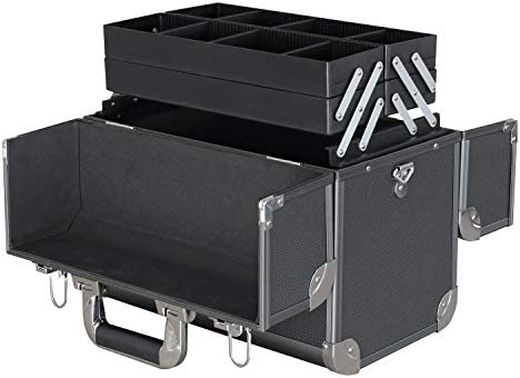 HMF 14902-02 Maletín de Herramientas vacío, Caja de Pesca de Aluminio, divisiones Individuales, 36,5 x 35 x 22 cm: Amazon.es: Hogar