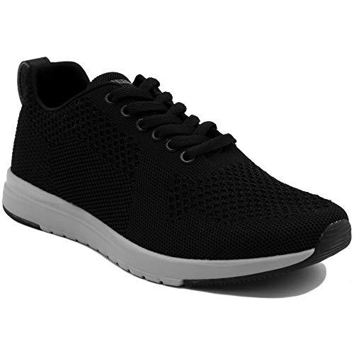 Nautica Mens Paylon Sneaker - Black/Grey,BLK/Gry,9