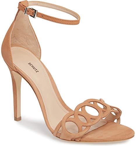 SCHUTZ Women's STHEFANY Heeled Sandal, Toasted nut, 8 M US