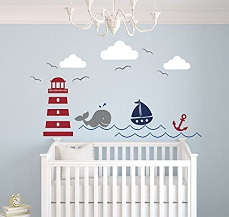 Nautical theme wall decal   nautical decor   nursery wall decal ...