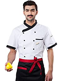 Buy 3colors Chef Clothing Hotel Restaurant Chefs Work Clothes Short Sleeve Chef Jack occupation