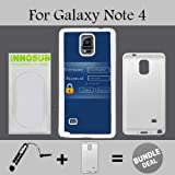 Admin Login Custom Galaxy Note 4 Cases-White-Plastic,Bundle 2in1 Comes with Custom Case/Universal Stylus Pen by innosub