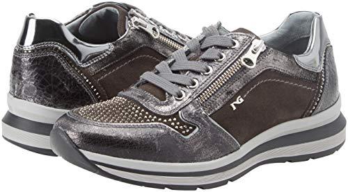 Velour grey Crack Para Nero 105 Giardini 032 Gris Cordones Mujer Zapatillas Sin wAwtxCqv