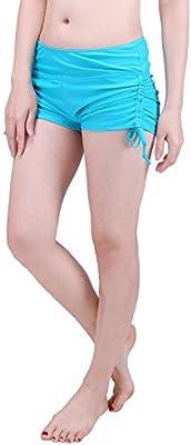 5b78b9f9912 HDE Women Swim Brief with Ties, Mini Boy Short Bikini Bottoms ...