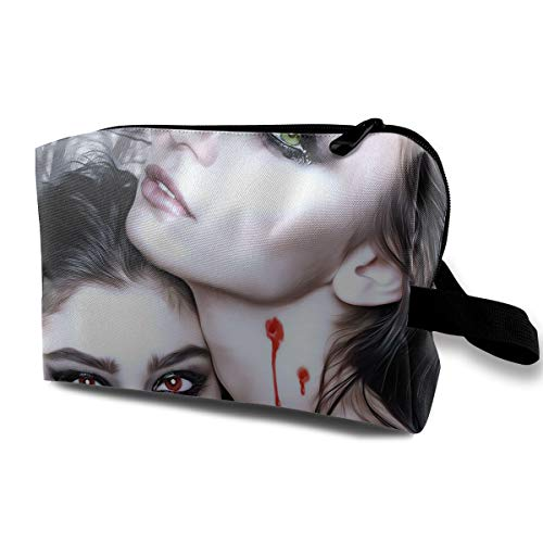 Halloween Vampire Fantasy Girl Blood Gothic Goth Multi-function Travel Makeup Toiletry Coin Bag Case for $<!--$16.99-->