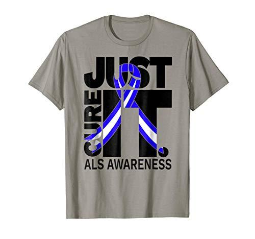 T-shirts Als Cure (ALS Awareness Just Cure ALS in Black T-Shirt)